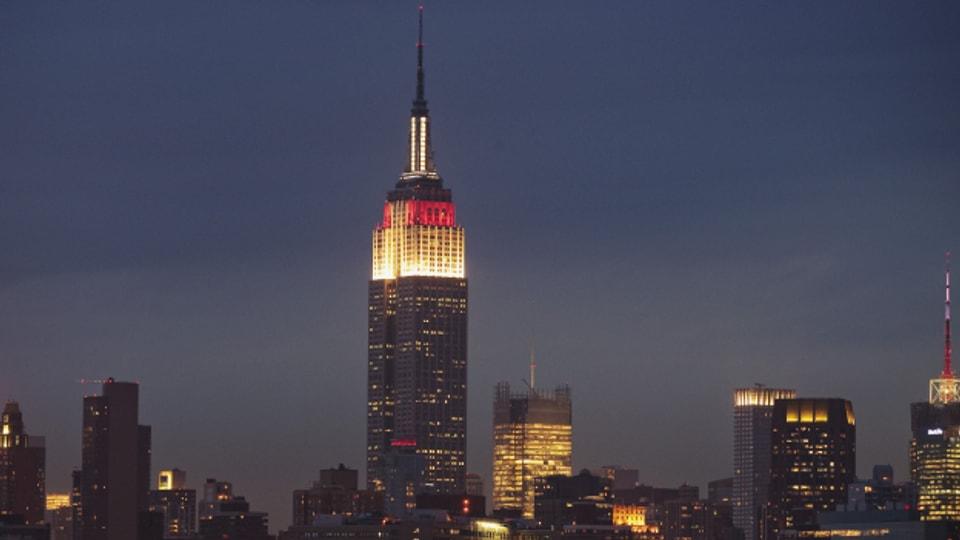 An klaren Tagen kann man vom Empire State Building aus fast 130 Kilometer weit blicken.