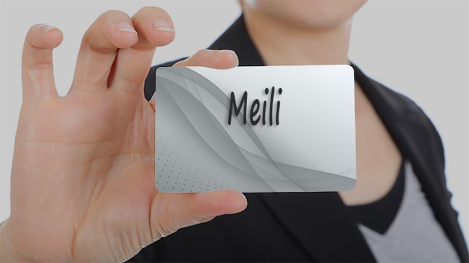 Der Name Meili ist entweder die Kurzform Meinrad oder von älteren Namen wie Mailo oder Magilo.