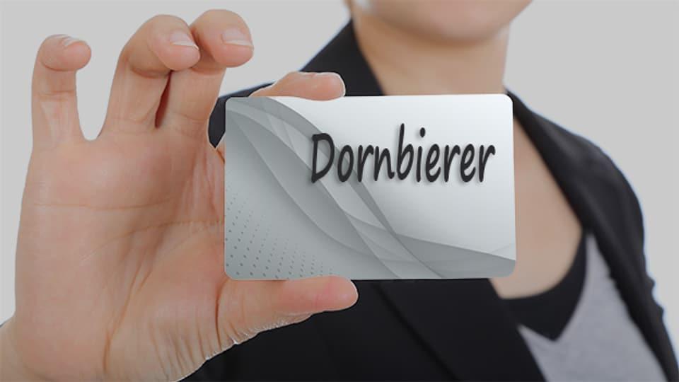 Der Familienname Dornbierer hat nichts mit Dornen oder Birnen zu tun.