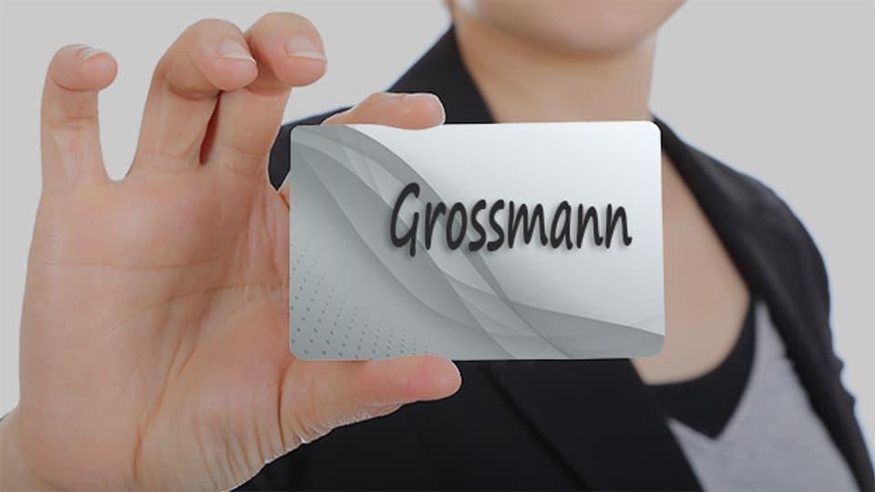 Der Name Grossmann kommt recht häufig vor. Heutzutage gibt es etwa 1250 Namensträger.