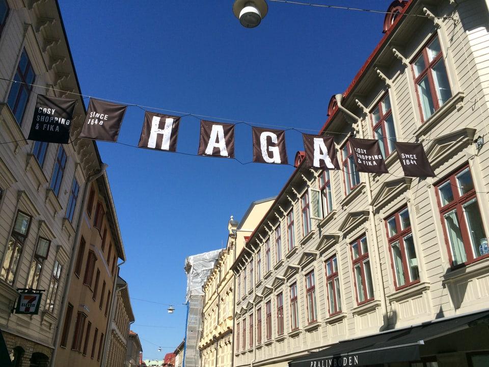 Il quartier Haga che envida a far ina spassegiada.