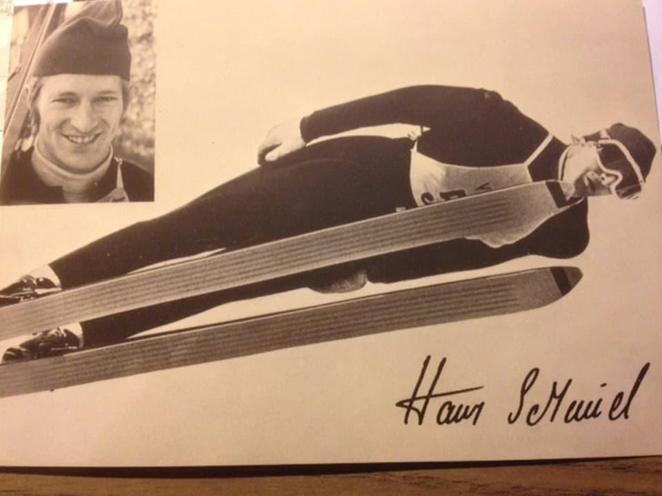 Autogrammkarte von Hans Schmid