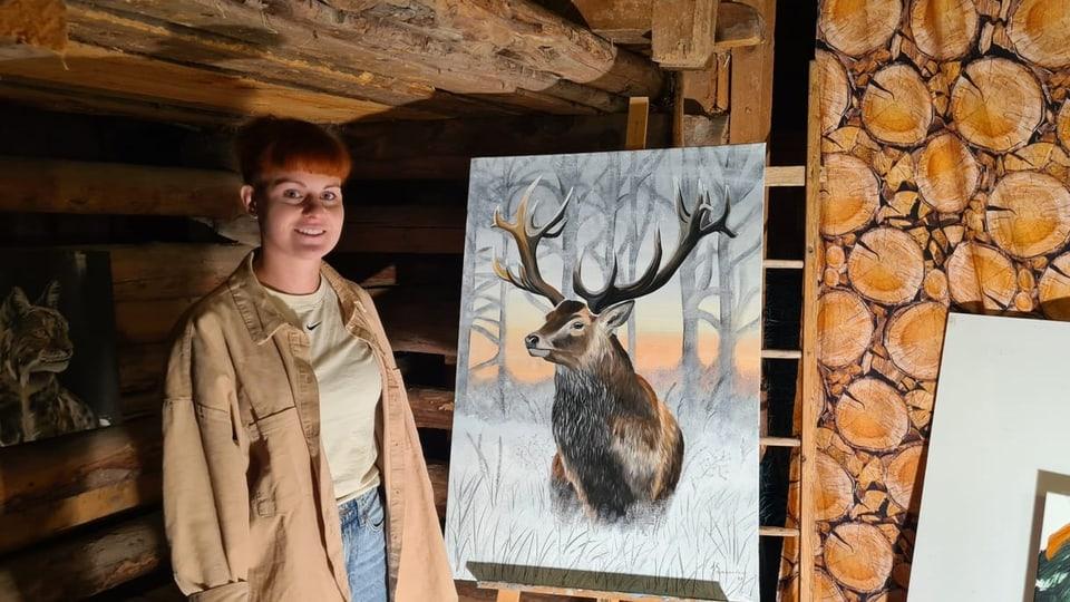 Jessica Spescha en ses atelier a Luven.