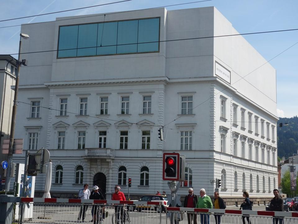 Il Vorarlberg Museum cun il Panoramaraum en il 4. plaun.