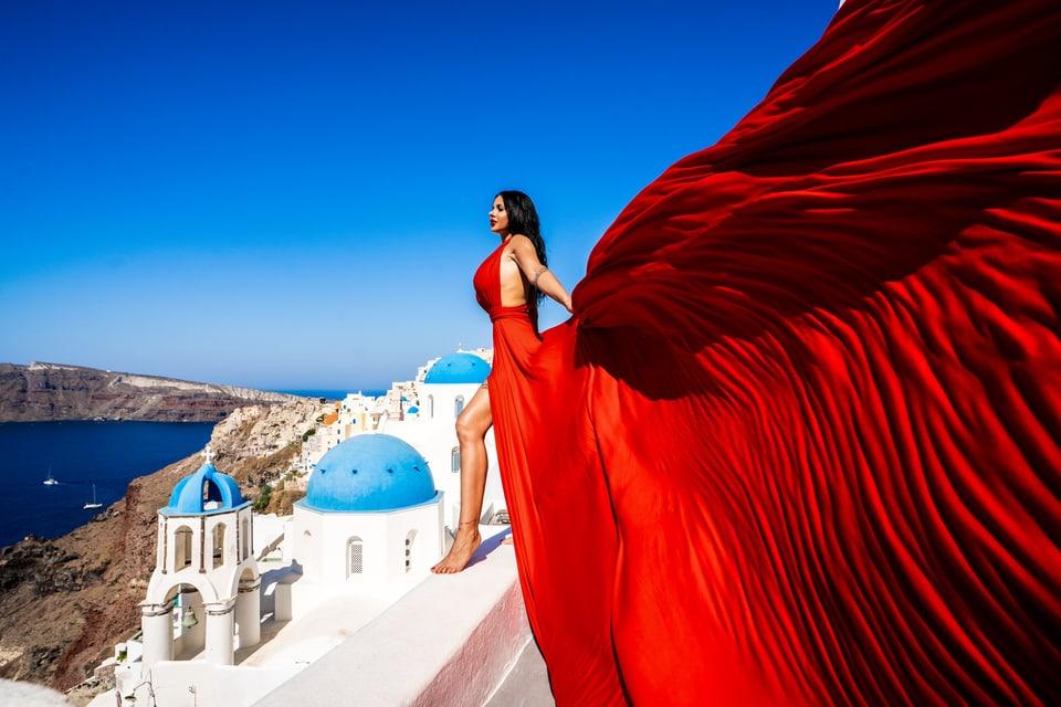 #viverilmument. In siemi è ì en vigur, fotoshooting a Santorini