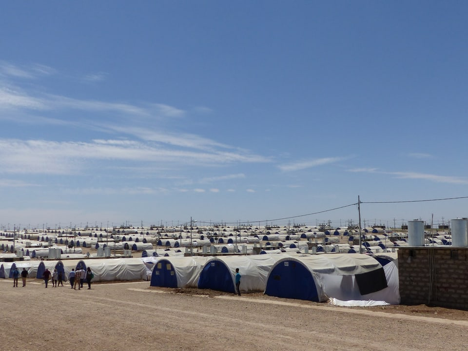 Ein Flüchtlingslager für 40'000 Menschen.