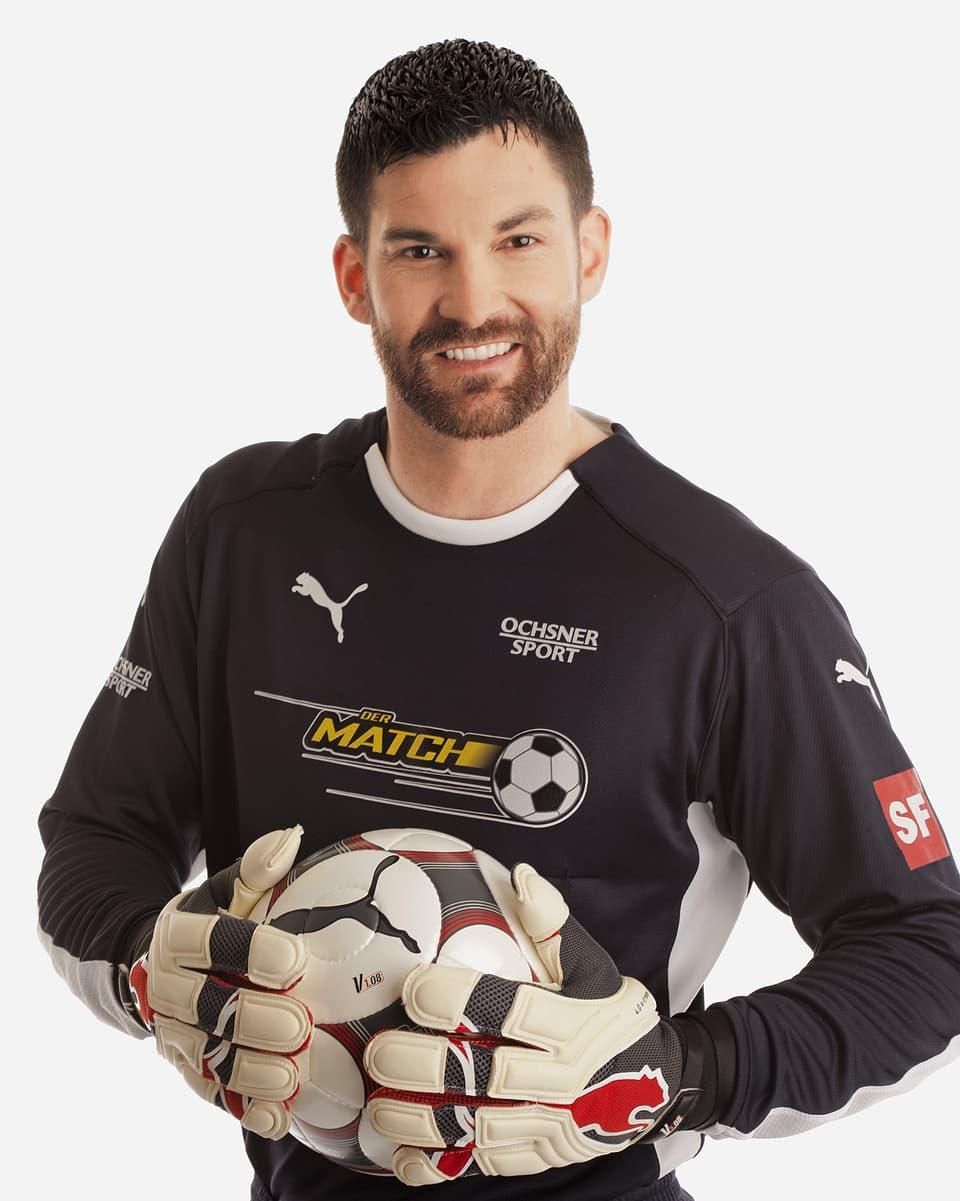 Tobias Rentsch im Goalie-Trikot