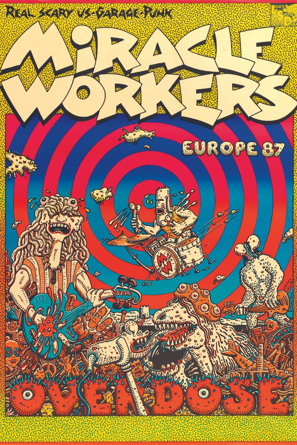 Konzertplakat der Band Miracle Workers