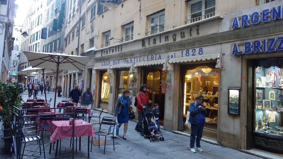 Piazza Soziglia a Genova.