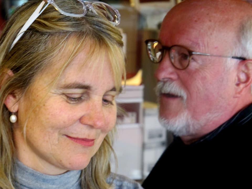 Christine Hubacher und Rolf Geiser im Studio.