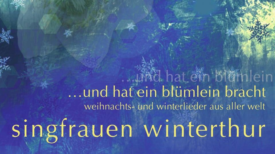 Placat da concert da «Singfrauen Winterthur».
