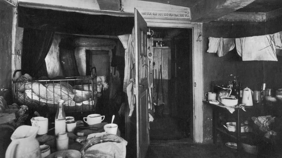 Schweizer Arbeiterwohnung zur Zeit des  Ersten Weltkriegs