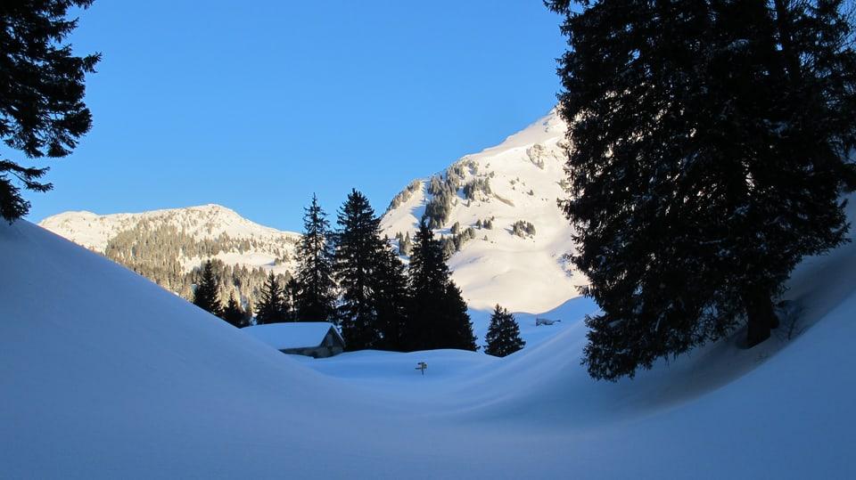 Ein Schneeeberg.