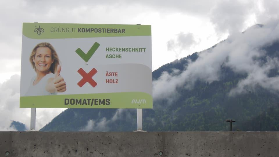 Management da rument a Domat: Dapli urden e dapli disciplina sin la nova plazza da recycling.