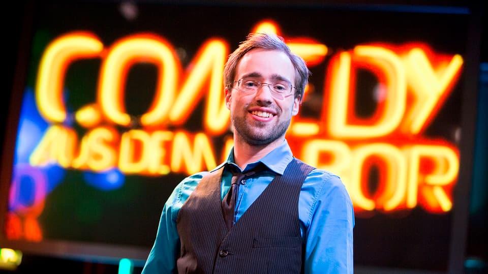 Jan Rutishauser auf der Bühne.