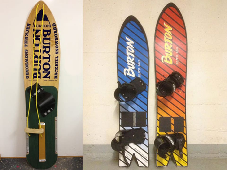 Alte Snowboards.
