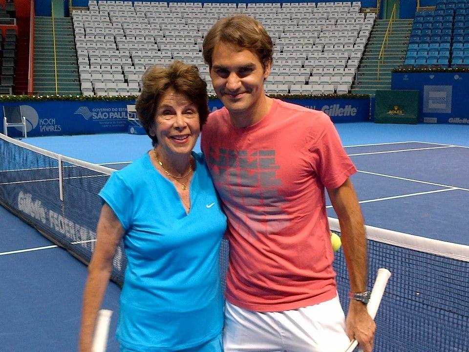 Maria Esther Bueno und Roger Federer