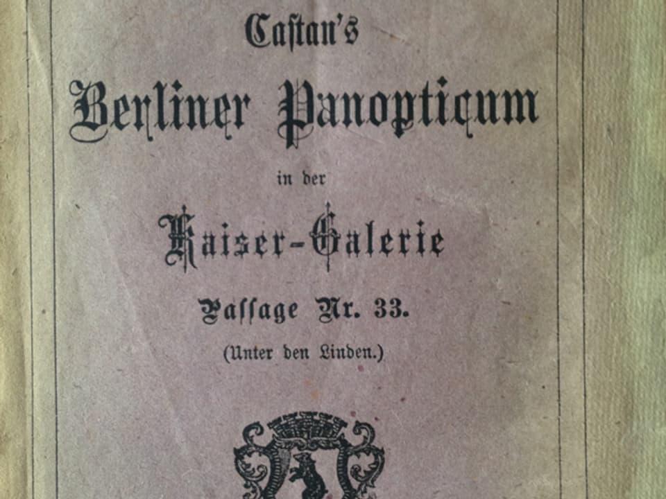 Broschüre 'Berliner Panoptikum'