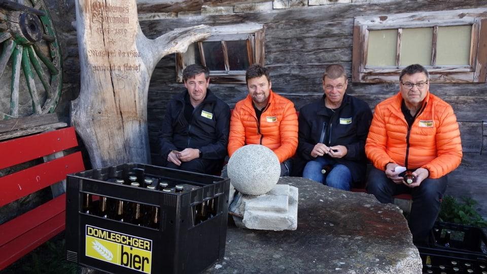 Ils bierers da sanester: Pius Giger, Andrea Gredig, Marco Berger e Reto Brot