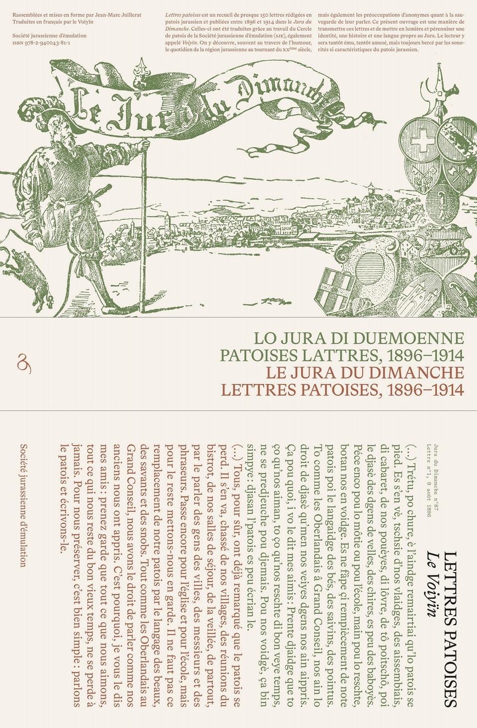 Platz 9: «Lo Jura di duemoenne. Patoises lattres, 1896–1914»