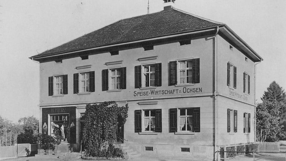 Der «Ochsen», das Restaurant von Hermanns Eltern.