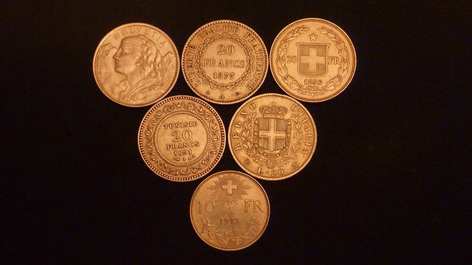 Aur da l'uniun monetara latina.