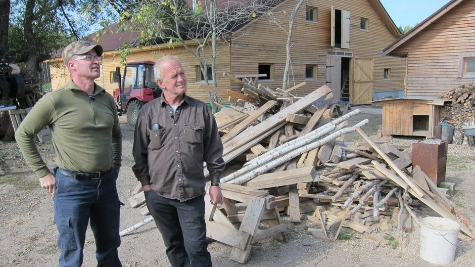Die beiden Auslandschweizer Jörg Duss und Hans Michel  wollen in Russland bleiben – trotz der Ukrainekrise.