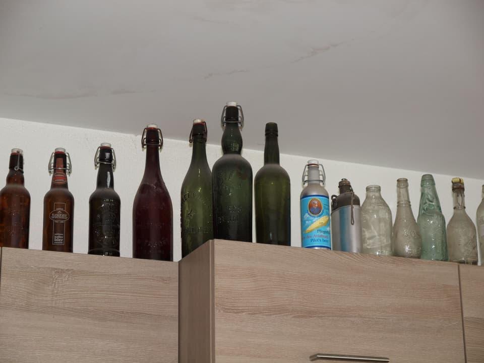 Flaschensammlung.