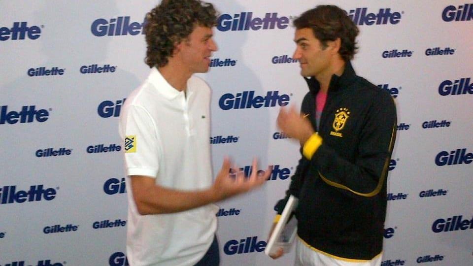 Gustavo Kuerten und Roger Federer