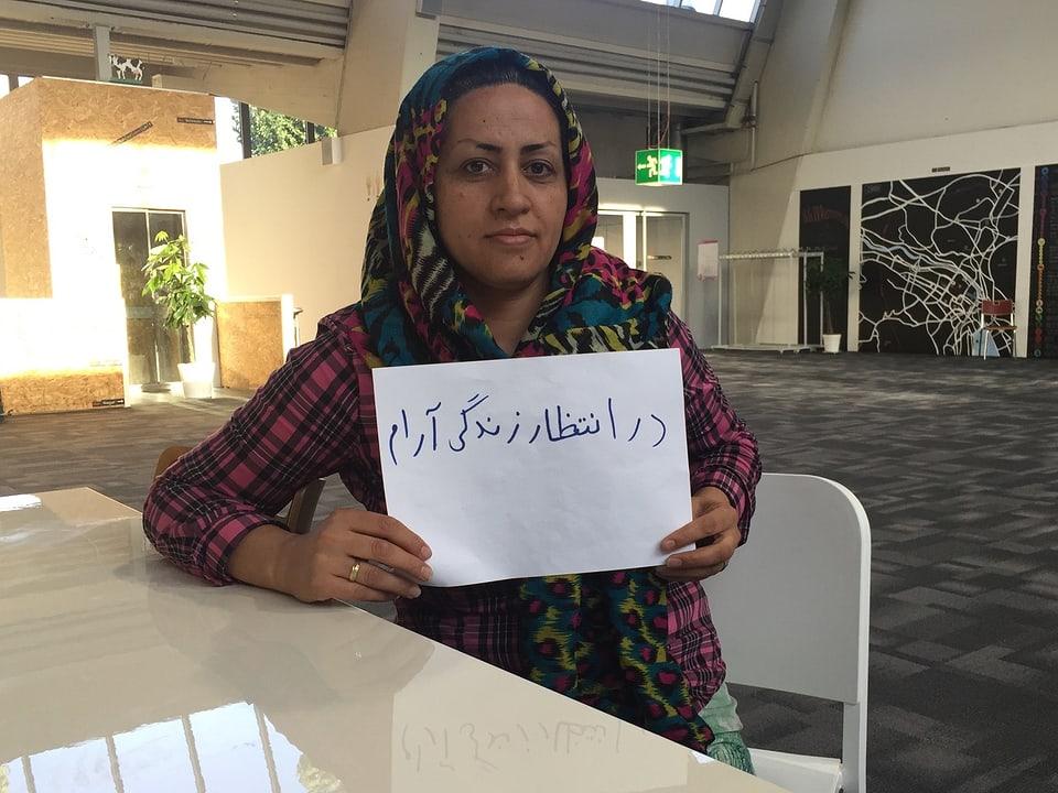 Asisgul aus Afghanistan wünscht sich und ihrer Familie ein ruhiges Leben.