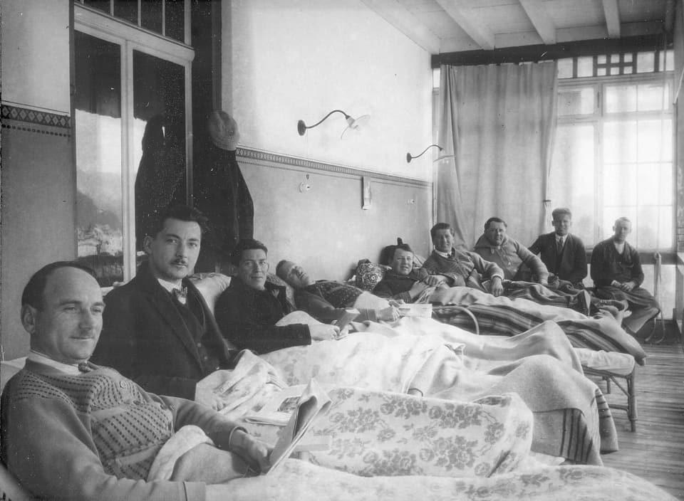 Letg sper letg - pazient sper pazient. Il sanatori Albula a Tavau.