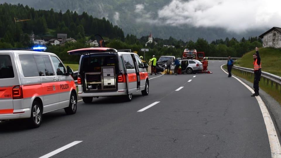 L'accident è capità sin la via da Malögia a Capolago.