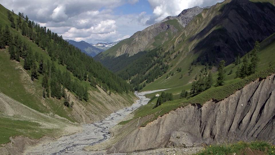 Wilde Schönheit: Natur pur ohne Eingriffe des Menschen soll im Schweizerischen Nationalpark für alle Zukunft erhalten bleiben. (Blick ins Tal)