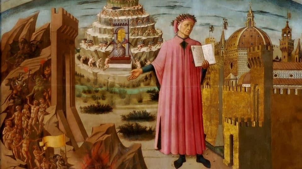 Ina cumedia divina «Dante ed ils Papas en l'enfiern»