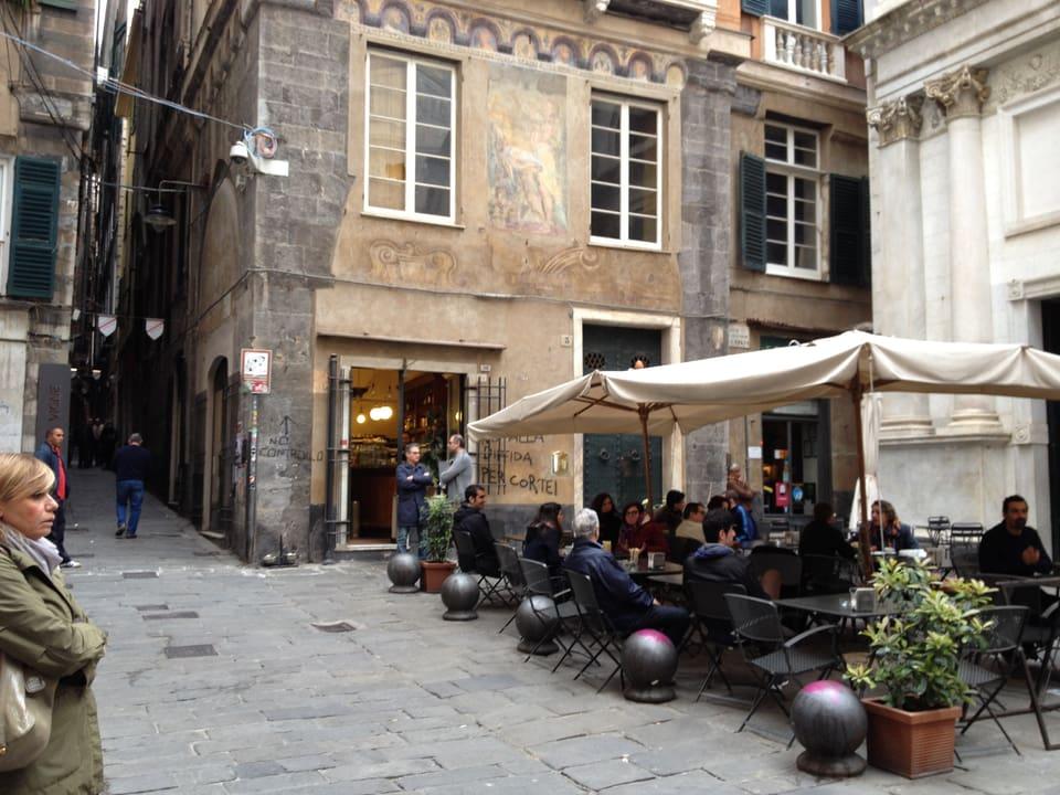 Piazza delle Vigne a Genova.