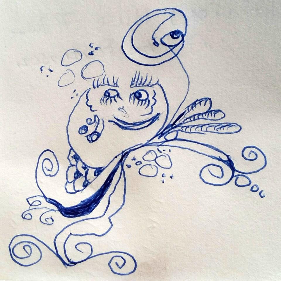 Kugelschreiber-Zeichnung des Totemügerli.
