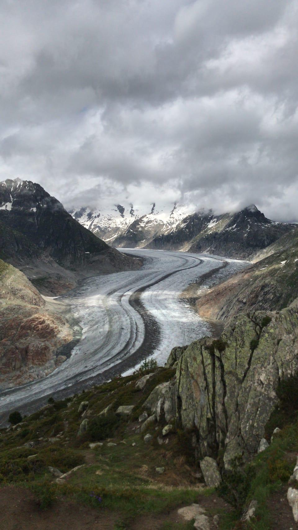 Vista sin il glatscher Aletsch en il Vallais