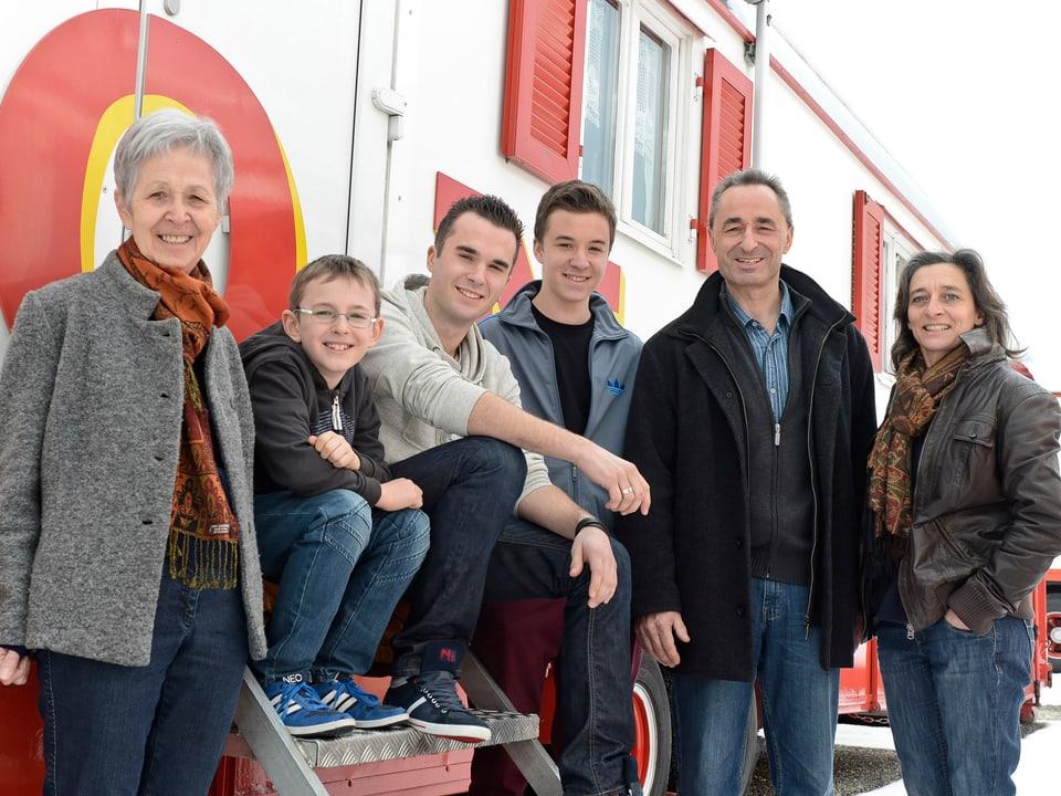 Familie Muntwyler vom Circus Monti.