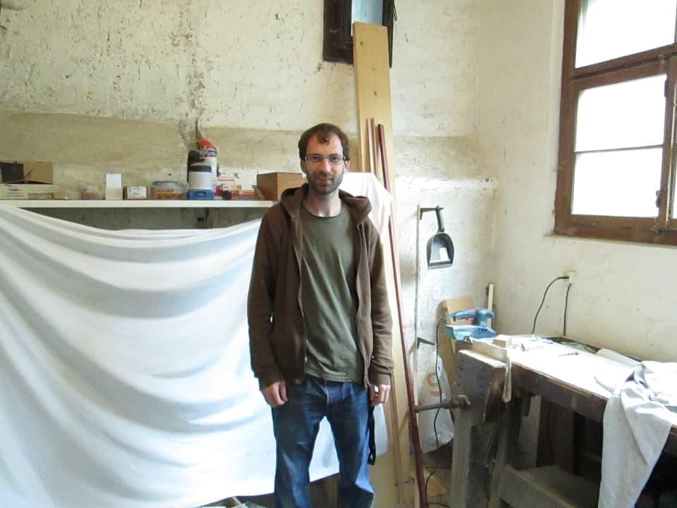 Der jüngste Bruder in seiner Schreinerei: der 31-jährige Andreas.