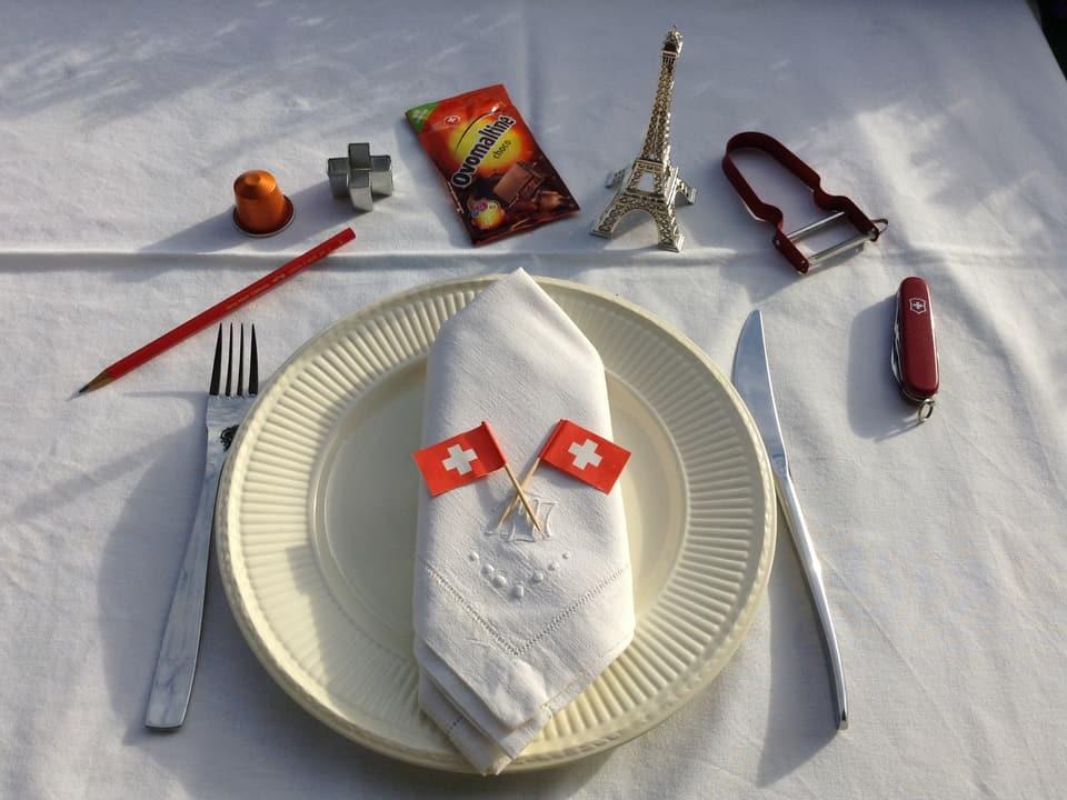 Schweizer Erfindungen einmal anders: Als Tischdekoration.