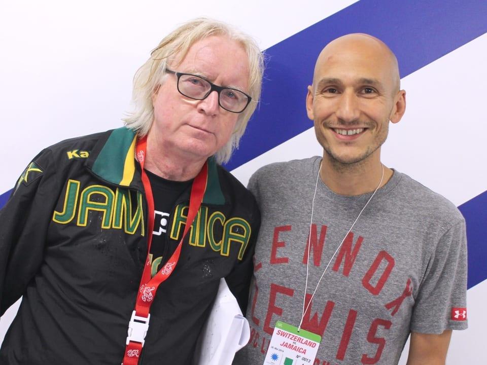 Winfried «Winnie Schäfer» mit Reggae Special Macher Luki Wyniger nach dem Interview.