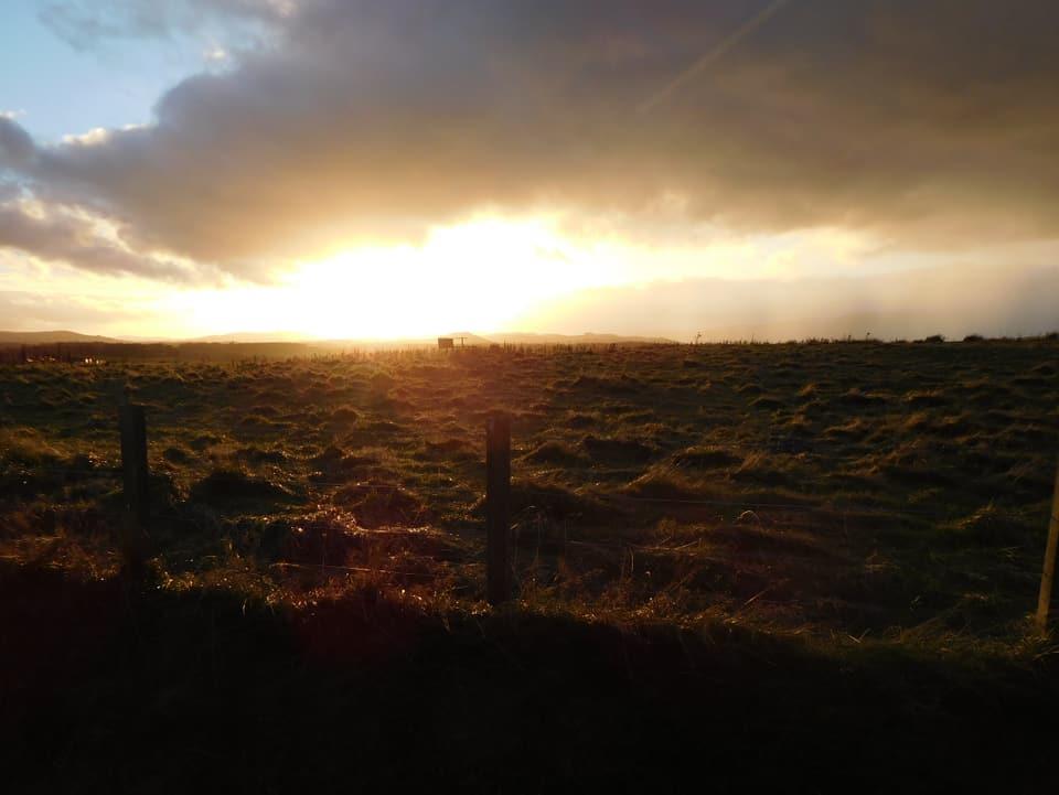 Sonnenuntergang vor Drymen.