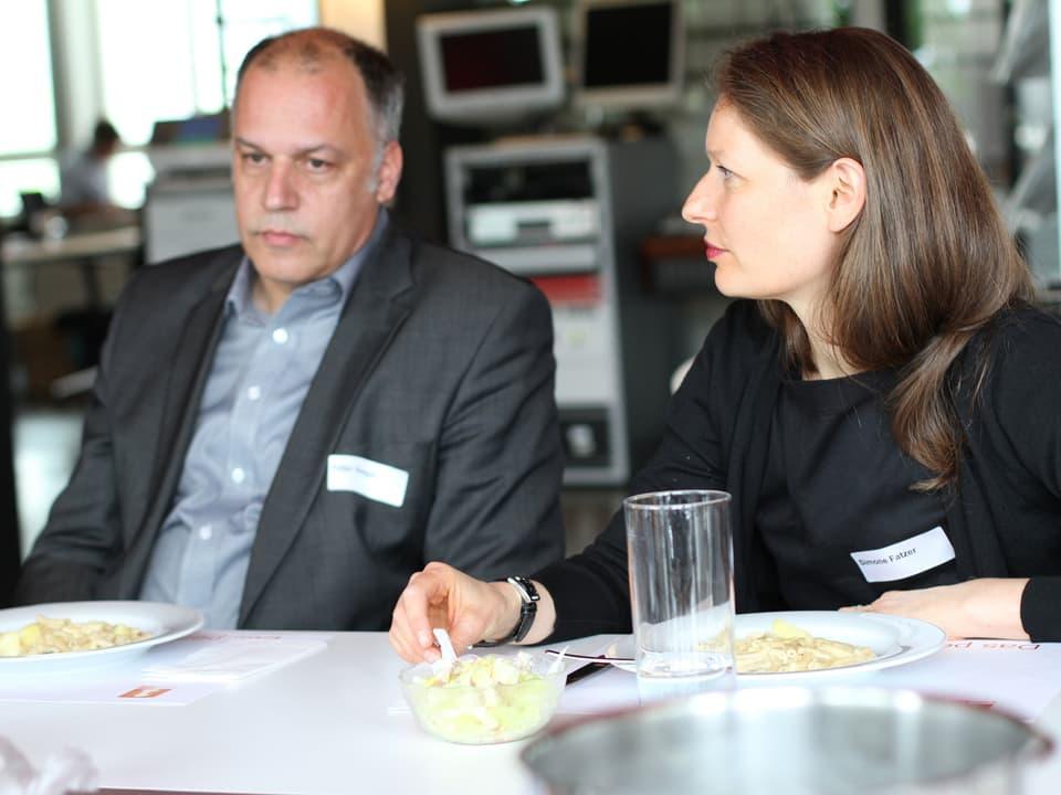 Simone Fatzer und  Peter Voegeli.
