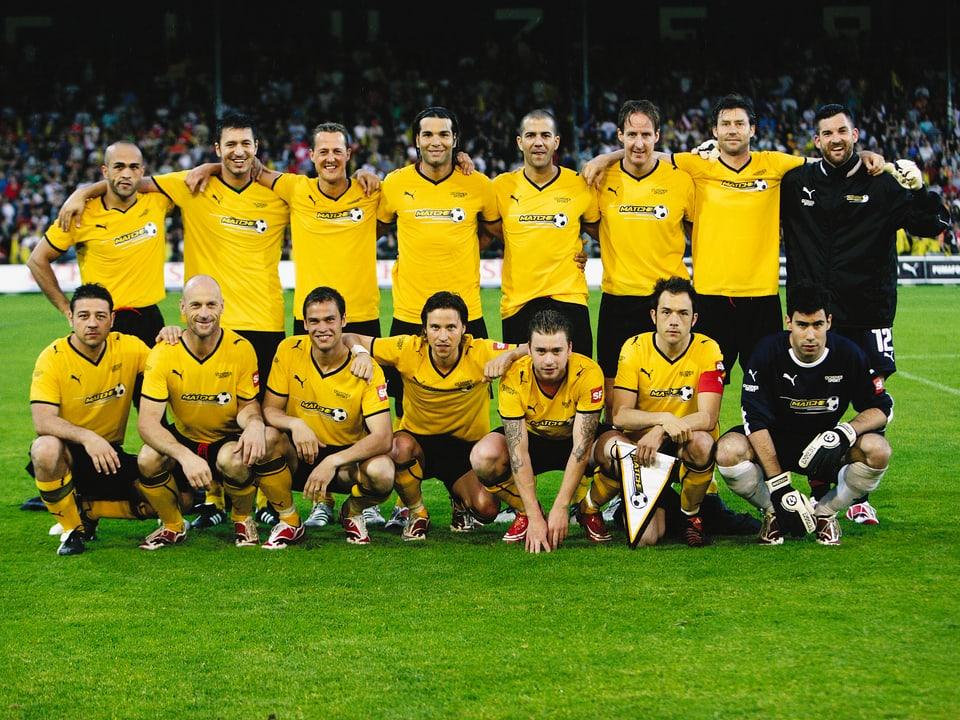 Mannschaft des Promi-Fussballteams für die SRF-Doku «Der Match»