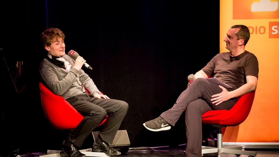 Sebastian Krämer und Alexander Götz im Gespräch.