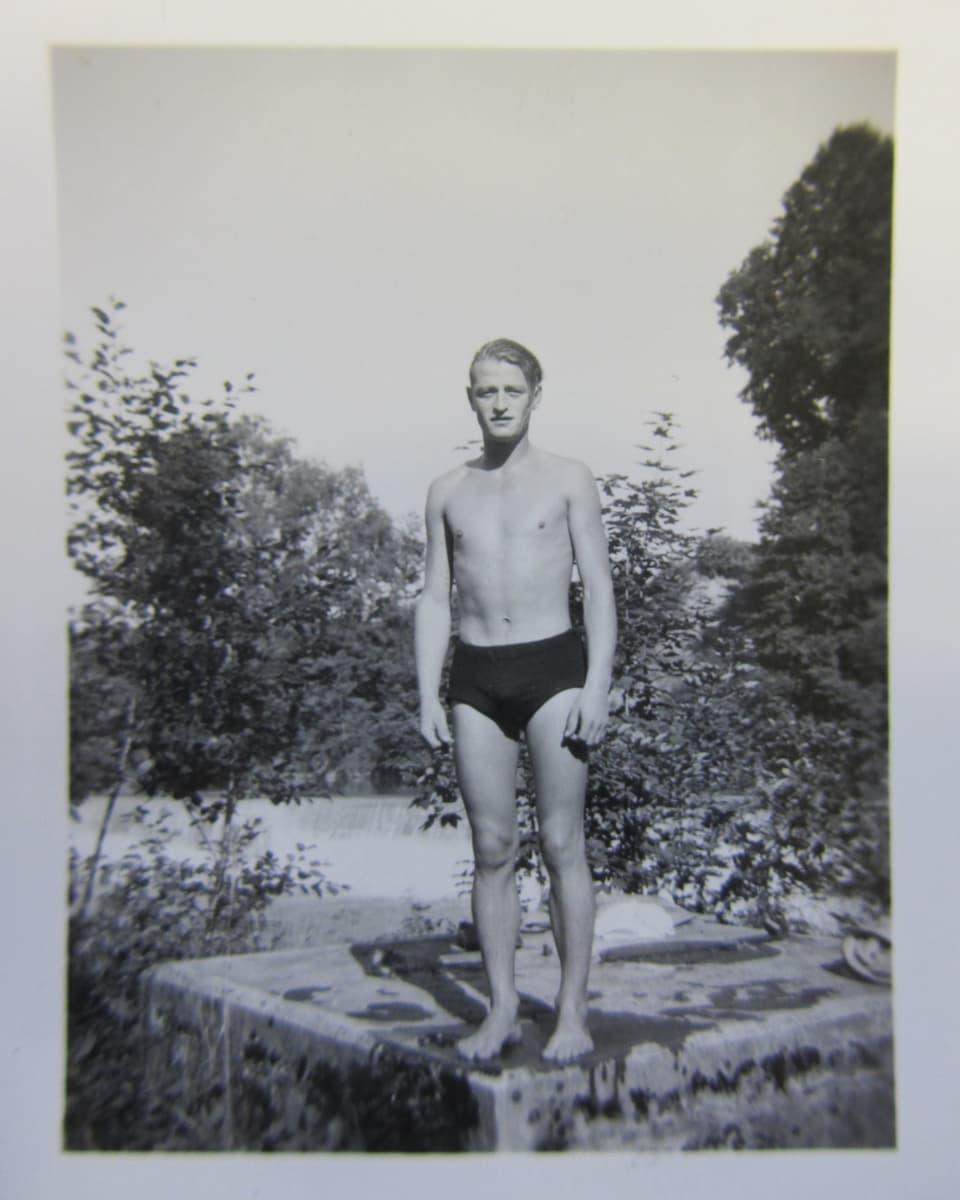 Ernst S. in den Badehosen