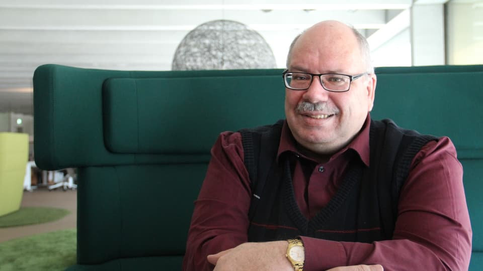 Martin Cabalzar, il chauredactur da La Quotidiana.