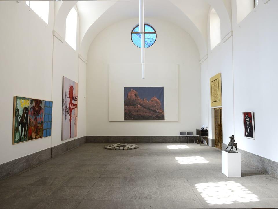 L'exposiziun dals Art Masters 2017 en la baselgia refurmada a San Murezzan