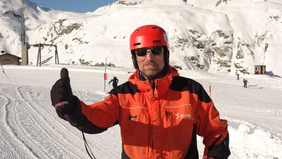 Marco Fasciati, il schef da gestiun dals implants da sport da Bivio.