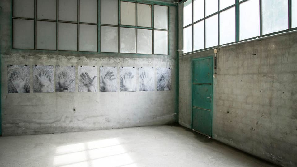In'installaziun realisada da l'artist Alessandro Ligato